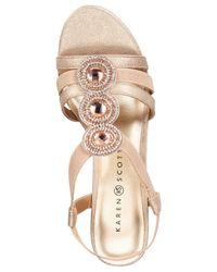 Karen Scott - Metallic Casha Wedge Sandals, Created For Macy's - Lyst