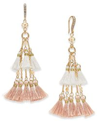 INC International Concepts - Metallic I.n.c. Gold-tone Bead & Tassel Drop Earrings, Created For Macy's - Lyst