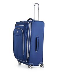 """Revo - Blue 25"""" Expandable Spinner Suitcase - Lyst"""