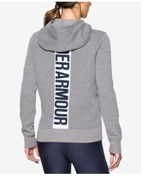 Under Armour - Gray Favorite Fleece Zip Hoodie - Lyst