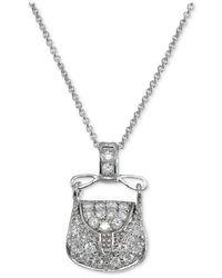 Giani Bernini - Metallic Cubic Zirconia Purse Pendant Necklace In Sterling Silver - Lyst