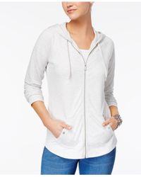 Style & Co. - White Zip-front Jacket - Lyst