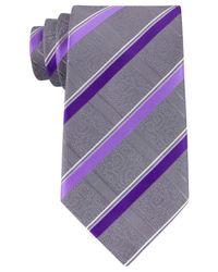 Geoffrey Beene   Purple Men's Stressless Stripe Tie for Men   Lyst