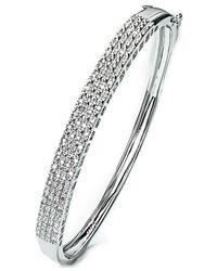 Macy's - Metallic Pave Diamond Bangle Bracelet In Sterling Silver (1/2 Ct. T.w.) - Lyst