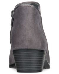 Style & Co. - Gray Wileyy Ankle Booties - Lyst