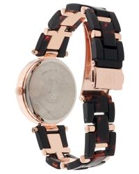 INC International Concepts - Metallic Women's Gold-tone Mixed-metal & Acrylic Link Bracelet Watch 35mm - Lyst