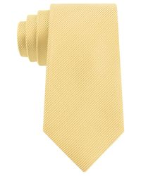 Geoffrey Beene - Yellow Bias Stripe Solid Tie for Men - Lyst