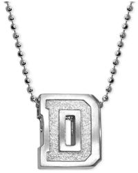 Alex Woo - Metallic Dartmouth Pendant Necklace In Sterling Silver - Lyst