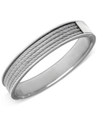 Charriol - Metallic Silver-tone Cable Bangle Bracelet - Lyst