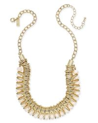 INC International Concepts - Metallic Gold-tone Multi-ring Beaded Statement Necklace - Lyst
