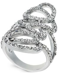 INC International Concepts - Metallic I.n.c. Silver-tone Pavé Tangle Ring, Created For Macy's - Lyst