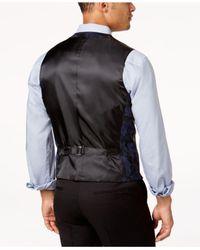 INC International Concepts - Blue Men's Slim-fit Faux Suede Vest for Men - Lyst