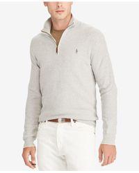 Polo Ralph Lauren - Gray Men's Big & Tall Half-zip Sweater for Men - Lyst