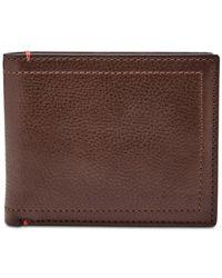 Fossil - Brown Men's Oliver Leather Passcase Wallet for Men - Lyst