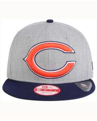 KTZ - Blue Chicago Bears Heather Grand 9fifty Snapback Cap for Men - Lyst