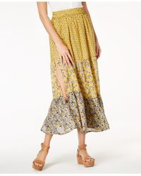 French Connection - Multicolor Savana Mixed-print Pull-on Skirt - Lyst