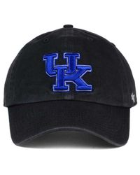 47 Brand - Black Kentucky Wildcats Clean-up Cap for Men - Lyst