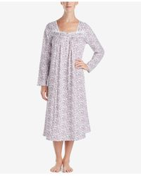 Eileen West - Purple Cotton Printed Ballet-length Nightgown - Lyst