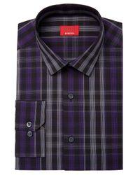 Alfani   Purple Men's Slim-fit Stretch Windowpane Plaid Dress Shirt, Created For Macy's for Men   Lyst