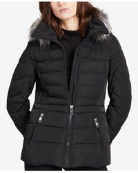 CALVIN KLEIN 205W39NYC - Black Performance Faux-fur-trimmed Hooded Puffer Coat - Lyst