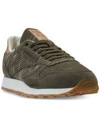 7172426c7ab Lyst - Reebok Men s Classic Leather Ebk Casual Sneakers From Finish ...