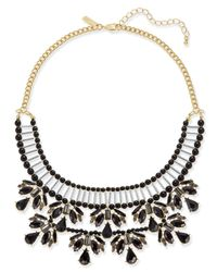 INC International Concepts - Black Two-tone Jet Stone & Bead Statement Necklace - Lyst
