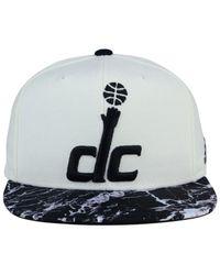 Adidas - Washington Wizards White Marble Snapback Cap - Lyst