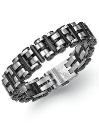 Macy's - Men's Black Hardware Link Bracelet In Stainless Steel for Men - Lyst