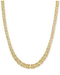 Macy's - Metallic Graduated Byzantine Necklace In 14k Gold - Lyst