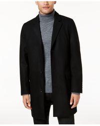 INC International Concepts   Black Men's Slim-fit Overcoat for Men   Lyst