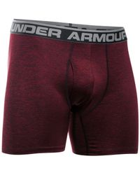 Under Armour - Red Men's Stretch Boxers for Men - Lyst