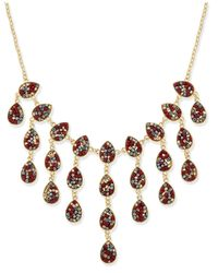 INC International Concepts | Metallic Gold-tone Multi-bead Statement Necklace | Lyst