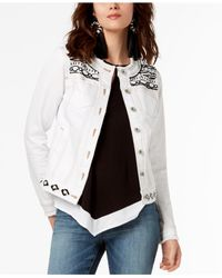 INC International Concepts - White I.n.c. Embellished Jacket, Created For Macy's - Lyst