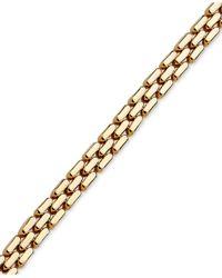 Macy's | Metallic 3 Row Link Bracelet In 14k Gold | Lyst