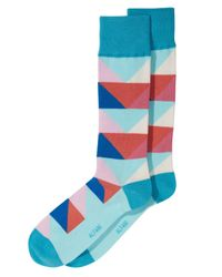 Alfani - Blue Abstract Triangle Socks, Created For Macy's for Men - Lyst