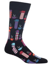 Hot Sox - Black Men's Beverage Socks for Men - Lyst