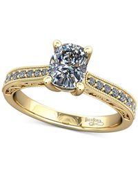 Macy's - Metallic Diamond Filigree Mount Setting (1/6 Ct. T.w.) In 14k Gold - Lyst