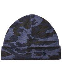 Polo Ralph Lauren - Blue Men's Cotton Camo Cuffed Hat for Men - Lyst