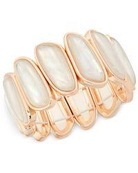 Charter Club - Metallic Shell-look Stretch Bracelet - Lyst