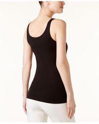 Eileen Fisher - Black Solid Scoop-neck Tank Top - Lyst