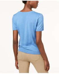 Weekend by Maxmara - Blue Cancan Short-sleeve Sweater - Lyst