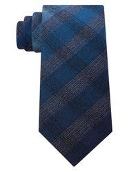 Kenneth Cole Reaction - Blue Men's Grid Tie for Men - Lyst