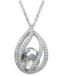 Swarovski   Metallic Necklace, Megan Crystal Moonlight Pendant   Lyst