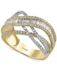 Effy Collection - Multicolor Diamond Ring (1-3/8 Ct. T.w.) In 14k Gold And White Gold - Lyst