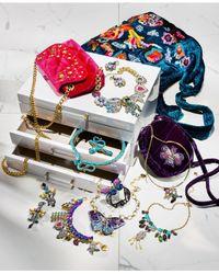 Betsey Johnson - Metallic Gold-tone Stone, Imitation Pearl & Pavé Hamsa Hand Statement Necklace - Lyst