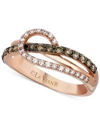 Le Vian - Metallic Diamond Loop Ring (1/2 Ct. T.w.) In 14k Rose Gold - Lyst
