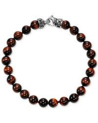 Scott Kay - Multicolor Men's Onyx (8mm) Bead Link Bracelet In Sterling Silver, (also In Red Tiger's Eye) for Men - Lyst
