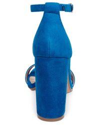 Steve Madden - Blue Carrson Ankle-strap Dress Sandals - Lyst