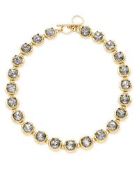 ABS By Allen Schwartz   Metallic Gold-tone Crystal Toggle Collar Necklace   Lyst