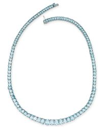 Macy's - Sky Blue Topaz Graduated All-around Collar Necklace (54 Ct. T.w.) In Sterling Silver - Lyst